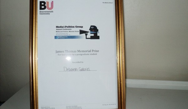 Winning the James Thomas Memorial Prize – media & politics