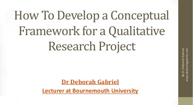 Using Conceptual Frameworks in Qualitative Research