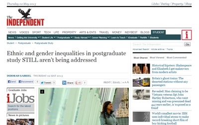 Ethnic and gender inequalities in postgraduate study STILL aren't being addressed -The Independent
